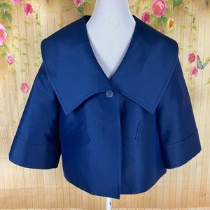 St. John Couture Blue Cropped Blazer